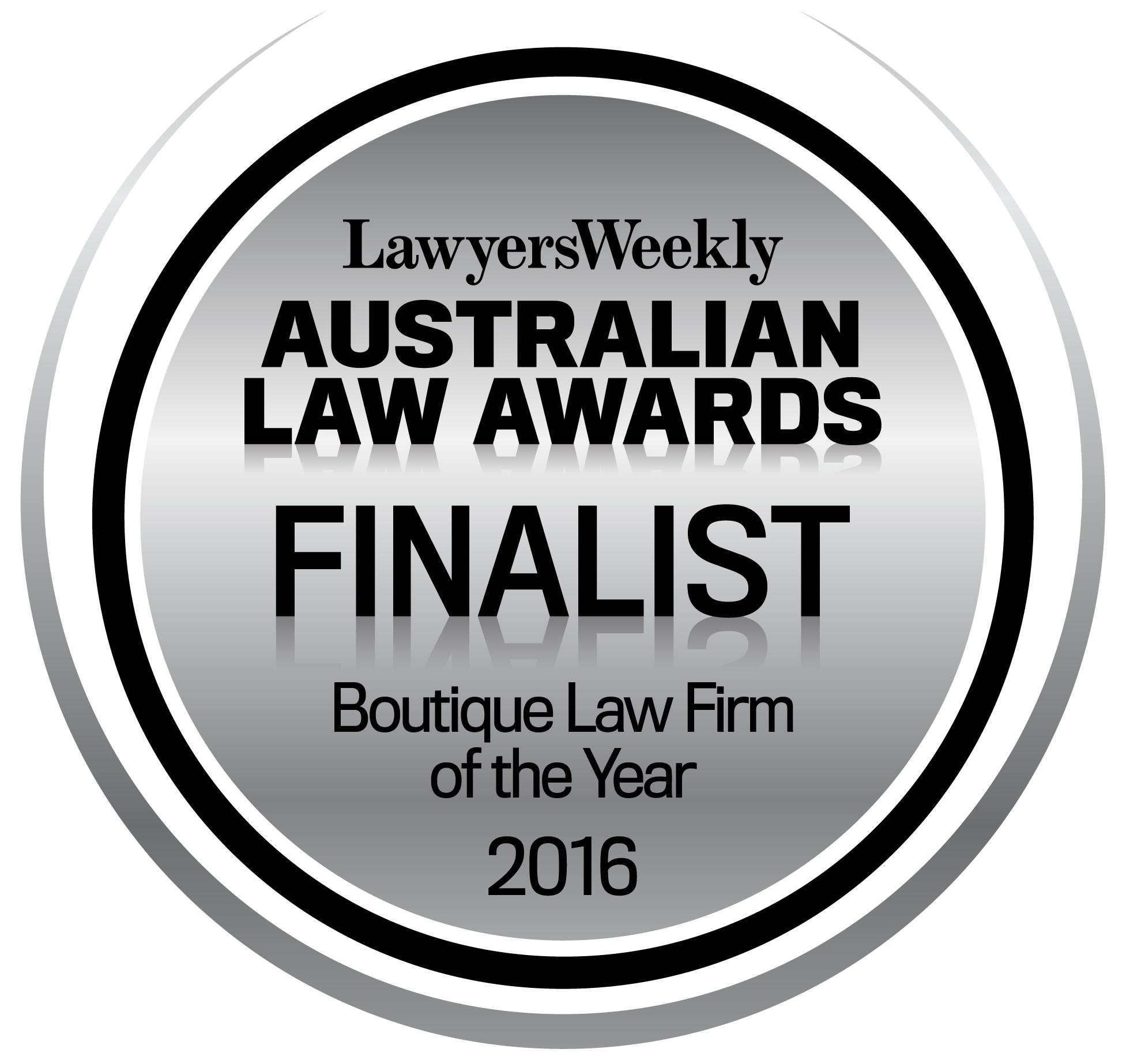 Thynne + Macartney Recognised as Trailblazers in 2016 Australian Law Awards
